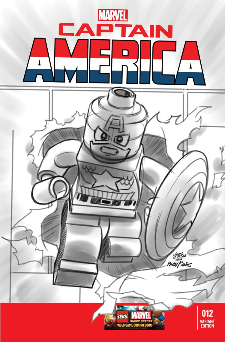Captain America (2012) #12 (Castellani Lego Sketch Variant)