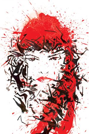 Elektra (2014) #1 cover by Mike Del Mundo