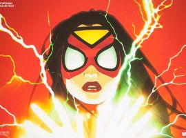 Spider-Woman premium art from Sideshow Collectibles