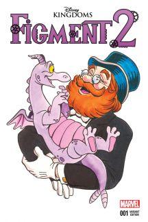 Figment 2 (2015) #1 (Atencio Classic Disney Image Variant)