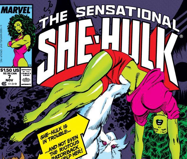 Cover for SENSATIONAL SHE-HULK 7