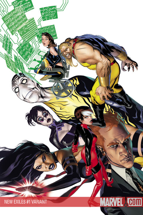 New Exiles (2008) #1 (Variant)