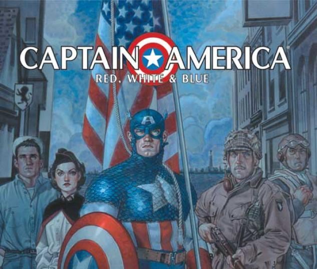CAPTAIN AMERICA: RED, WHITE & BLUE HC COVER