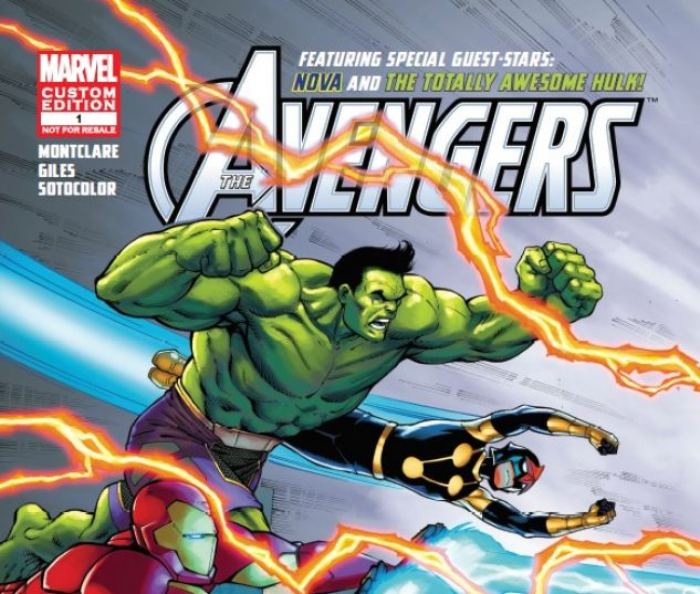 cover to AVENGERS FT. HULK & NOVA (2016) #1