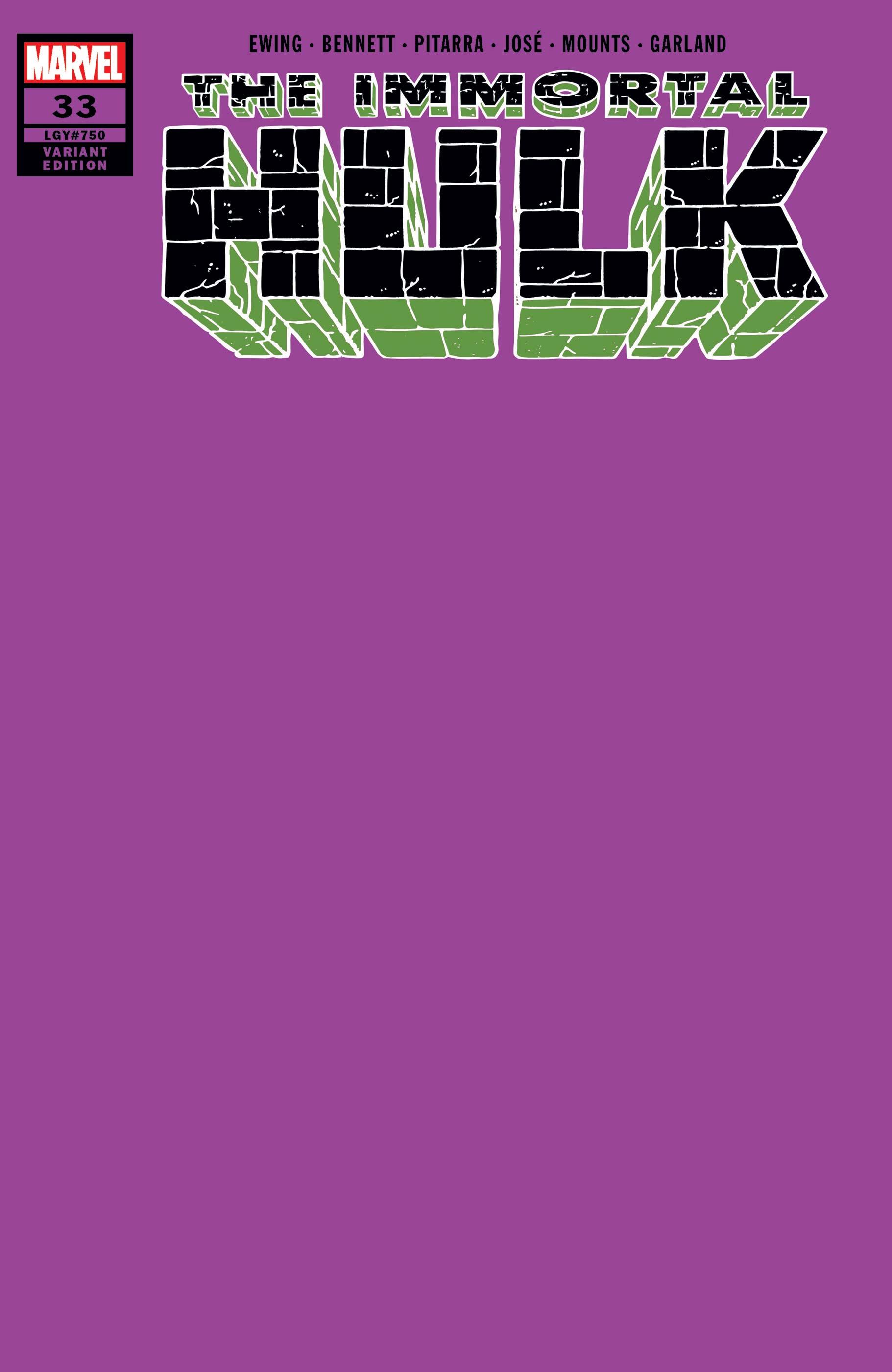 Immortal Hulk (2018) #33 (Variant)