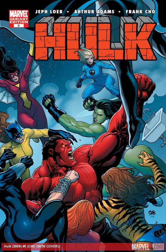 Hulk (2008) #9 (CHO (50/50 COVER))