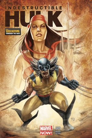 Indestructible Hulk (2012) #9 (Roux Wolverine Costume Variant)