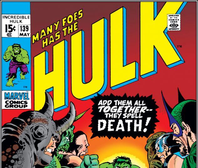 Incredible Hulk (1962) #139 Cover