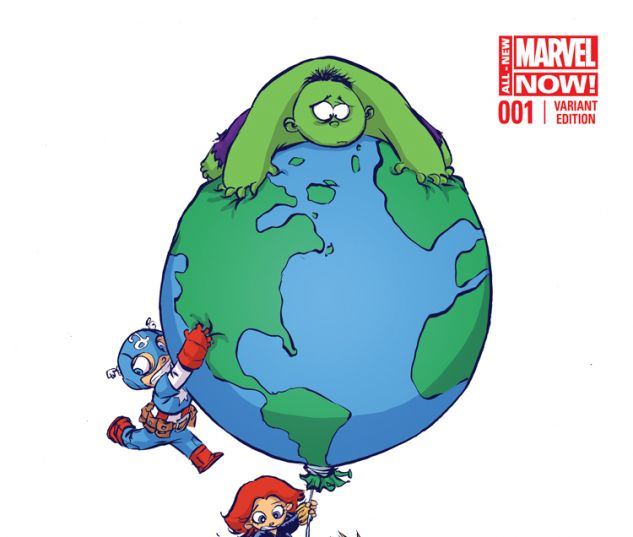 AVENGERS WORLD 1 YOUNG VARIANT (ANMN, WITH DIGITAL CODE)