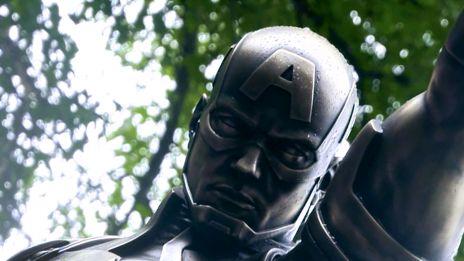 Captain America is in Brooklyn!