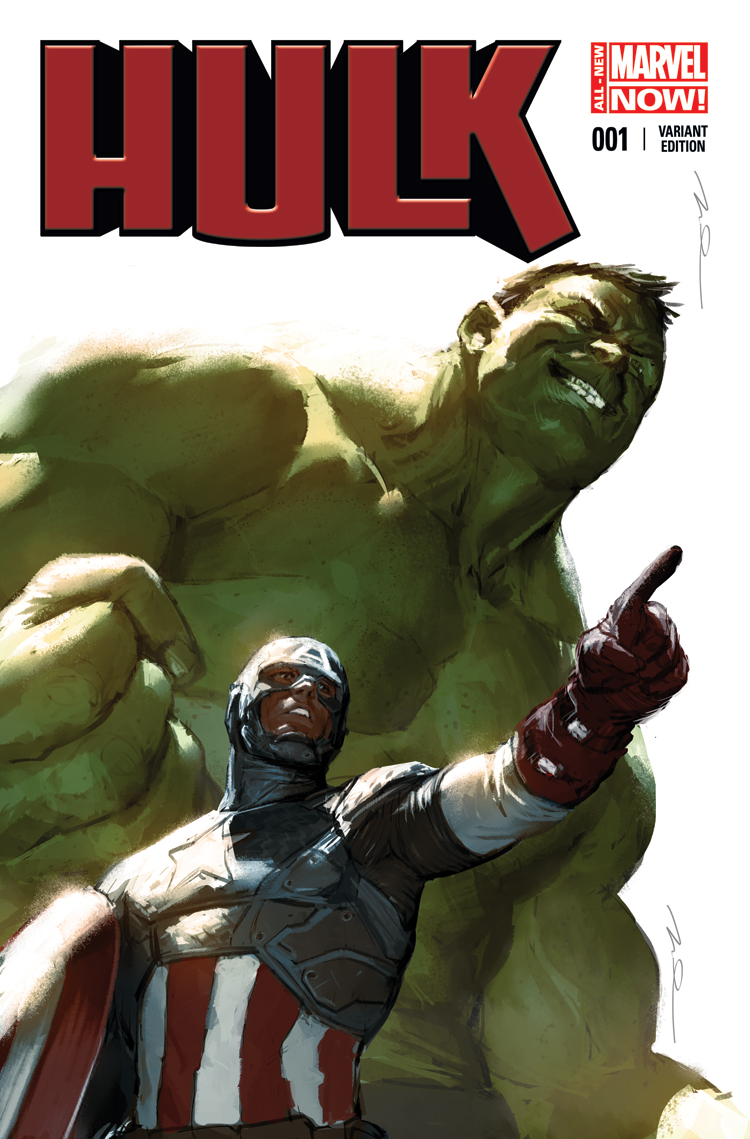 Hulk (2014) #1 (Parel Captain America Team-Up Variant)