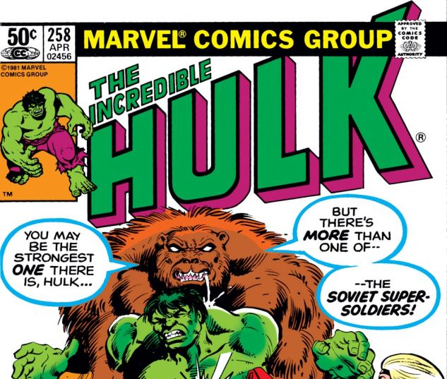 Incredible Hulk (1962) #258 Cover