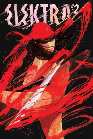 Elektra (2014) #2 cover by Mike Del Mundo