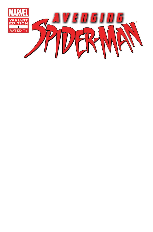 Avenging Spider-Man (2011) #1 (Blank Cover Variant)