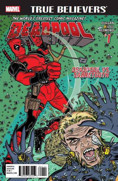 True Believers: Deadpool - Deadpool Vs. Sabretooth (2016) #1