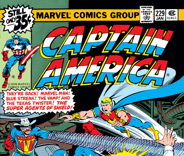 Captain America (1968) #229 Cover