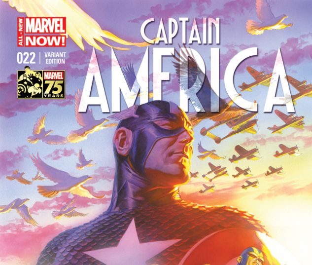 CAPTAIN AMERICA 22 ROSS 75TH ANNIVERSARY VARIANT (ANMN, WITH DIGITAL CODE)
