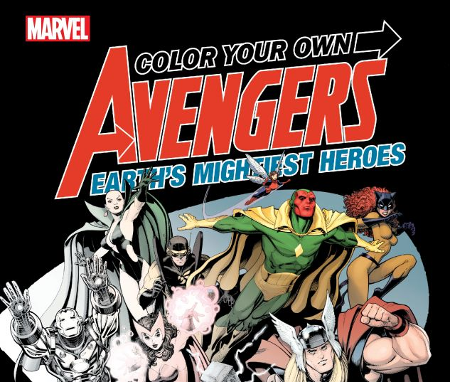 cover from COLOR YOUR OWN AVENGERS: TBD (2019) #1