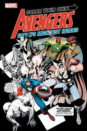 Color Your Own Avengers: Earth's Mightiest Heroes (Trade Paperback)