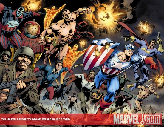The Marvels Project (2009) #8 (DAVIS WRAPAROUND COVER)