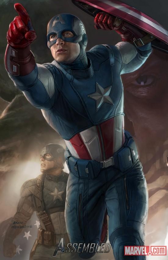 Captain America SDCC 2011 exclusive concept art poster