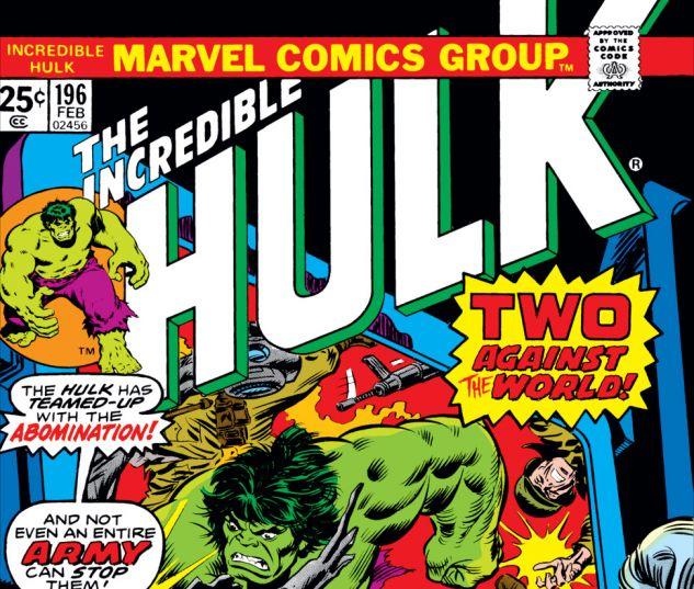 Incredible Hulk (1962) #196 Cover