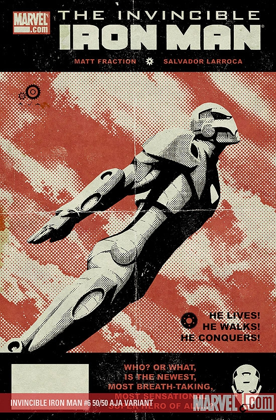Invincible Iron Man (2008) #6 (AJA (50/50 COVER))