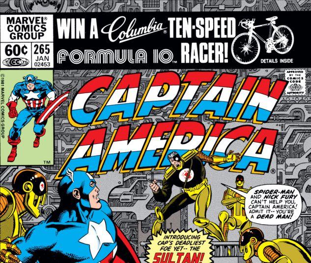 Captain America (1968) #265 Cover
