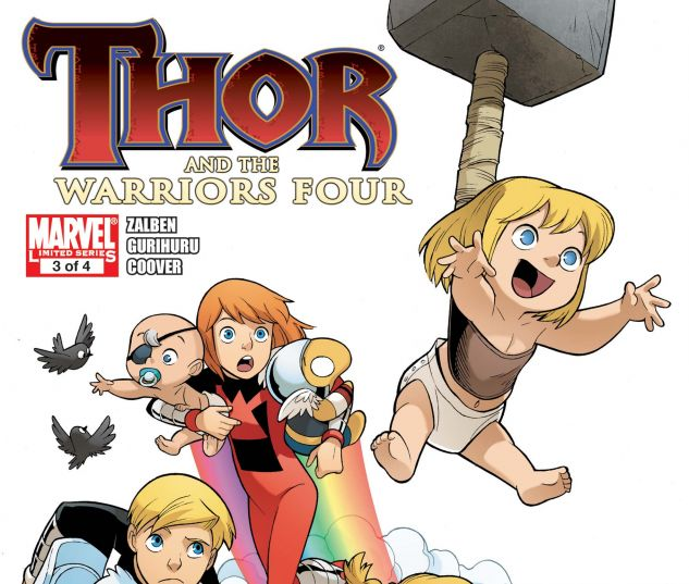 Thor and the Warriors Four (2010) #3