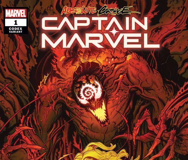ABSOLUTE CARNAGE: CAPTAIN MARVEL 1 BRADSHAW CODEX VARIANT #1