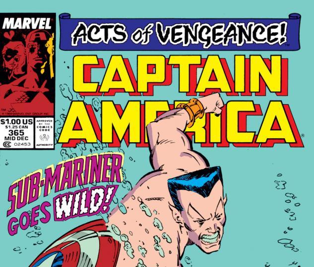 Captain America (1968) #365 Cover