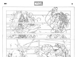 Guardians of Infinity #1 preview pencils by Carlo Barberi