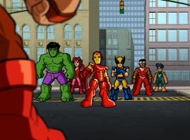 The Super Hero Squad faces Juggernaut