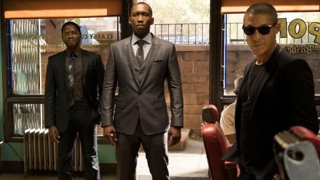Cornell (Mahershala Ali) & Shades (Theo Rossi) drop by Pops in 'Marvel's Luke Cage,' streaming only on Netflix September 30!
