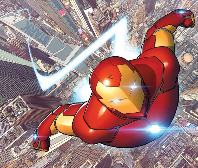 Invincible Iron Man (2015) #1 cover by David Marquez
