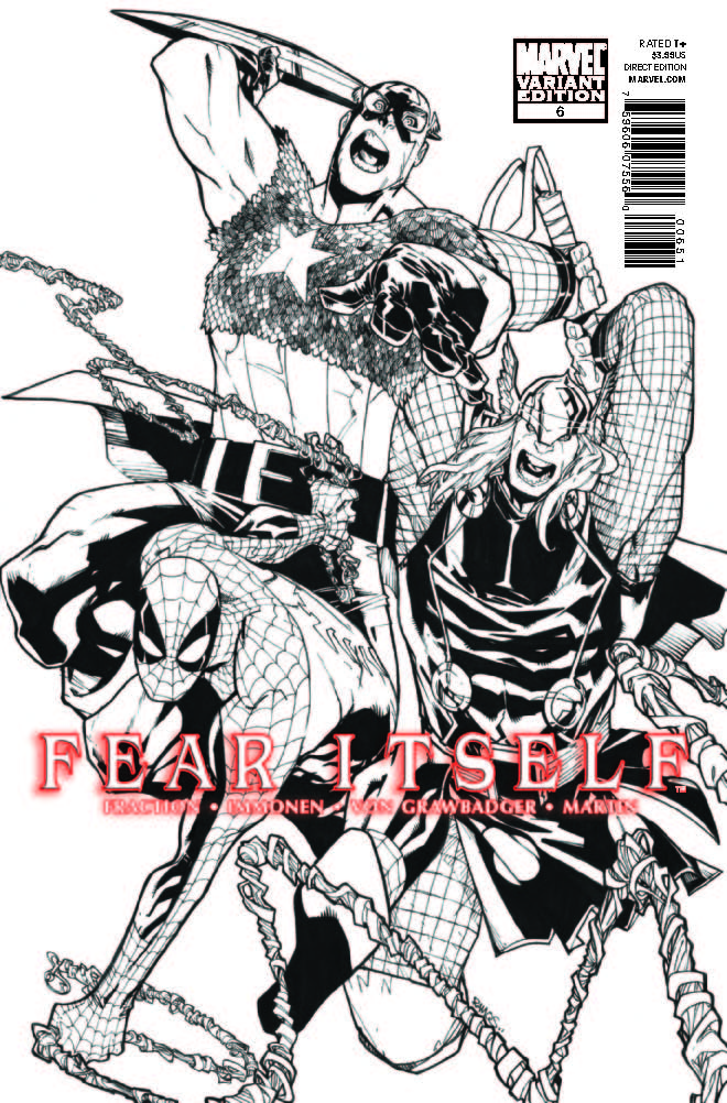 Fear Itself (2010) #6 (Architect Sketch Variant)