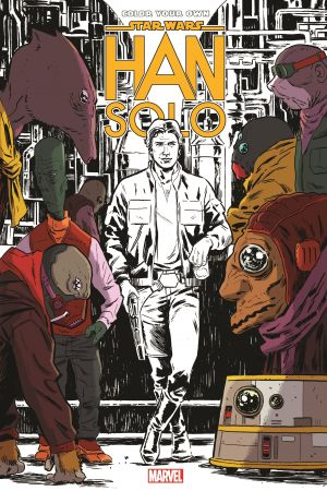 Color Your Own Star Wars: Han Solo (Trade Paperback)