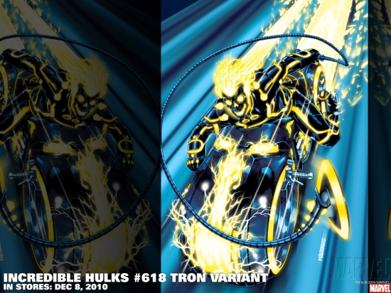 Incredible Hulks #618 Tron variant cover by Mark Brooks