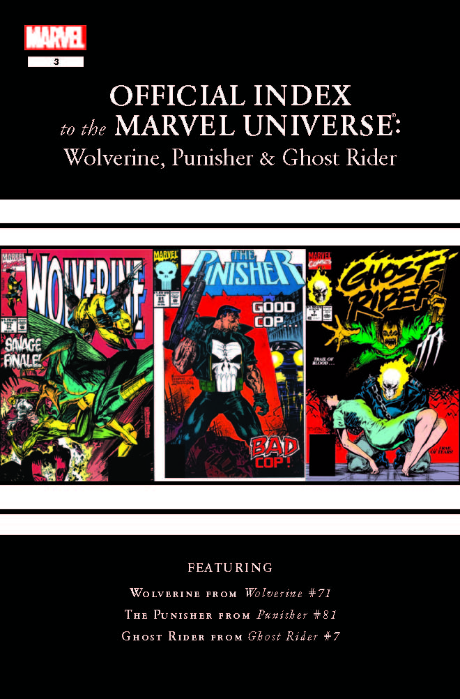 Wolverine, Punisher & Ghost Rider: Official Index to the Marvel Universe (2011) #3