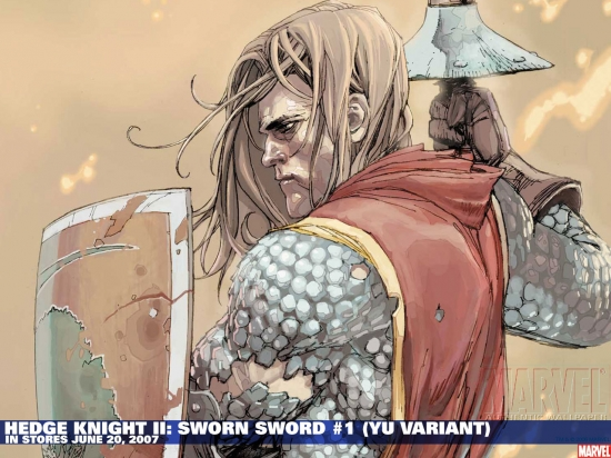 Hedge Knight II: Sworn Sword #1 variant cover by Leinil Francis Yu