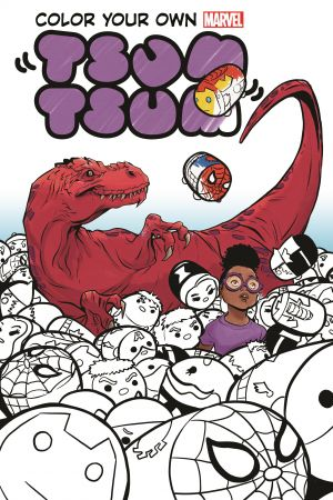 Color Your Own Marvel Tsum Tsum (Trade Paperback)
