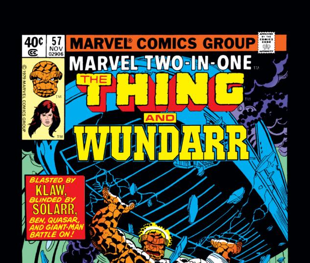 Marvel Two-in-One (1974) #57 Cover