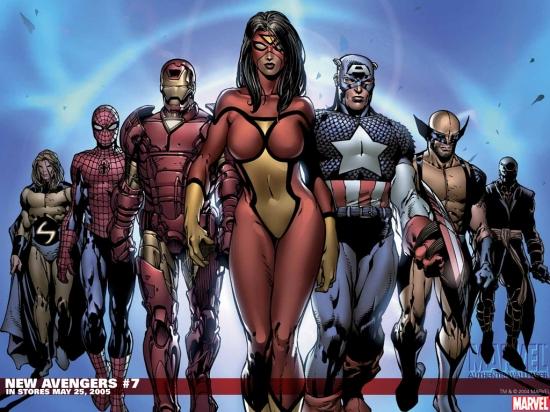 New Avengers (2004) #7 Wallpaper
