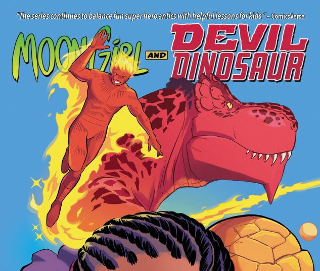 cover from MOON GIRL AND DEVIL DINOSAUR VOL. 5: FANTASTIC THREE TPB (2018) #5