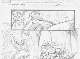 Fantastic Four (2012) #1 pencils by Mark Bagley