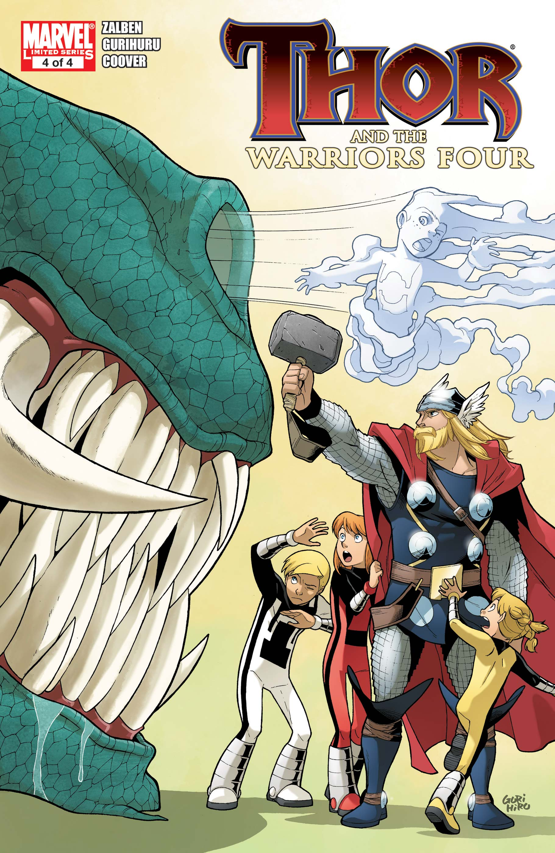 Thor and the Warriors Four (2010) #4