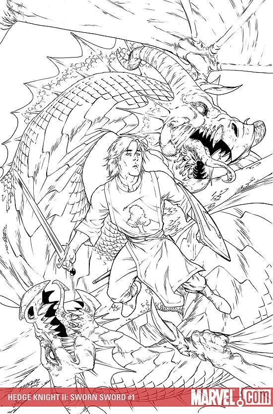 Hedge Knight II: Sworn Sword (2007) #1 (Sketch Variant)