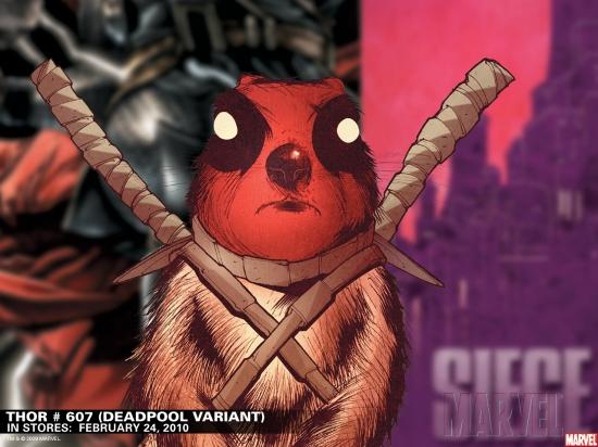 Thor #607 Deadpool Variant