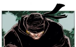 Matt Murdock in the seminal Daredevil: Man Without Fear by Frank Miller and John Romita, Jr.