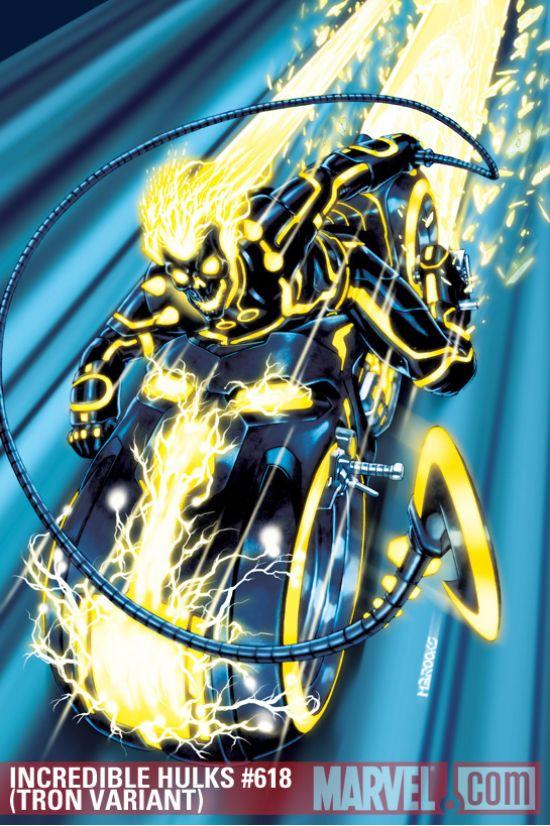 Incredible Hulks (2009) #618 (TRON VARIANT)